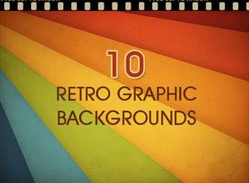 10 Retro Graphic Backgrounds