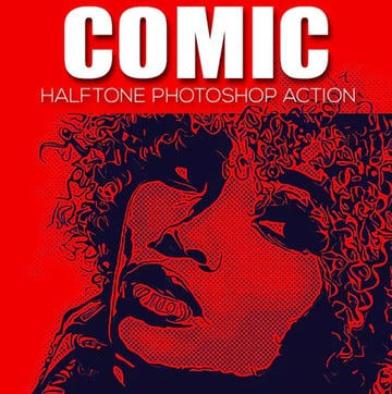 Comic Halftone Photoshop Action