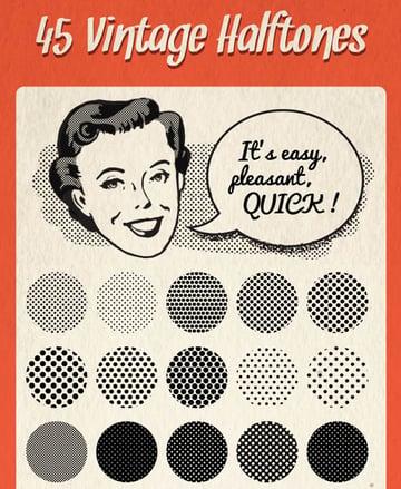 45 Halftones Pattern