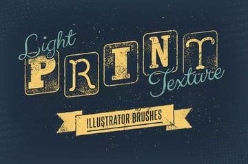 Light Print Texture Illustrator Brushes