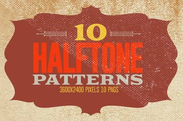 10 Halftone Textures