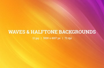 Waves Halftone Backgrounds