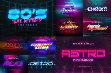 80s Text Effects Vol1