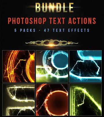 47 Text Photoshop Actions