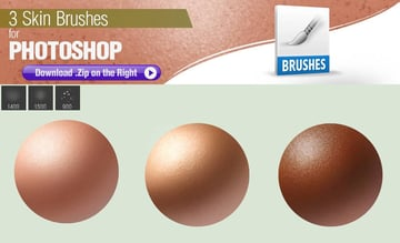 3 Photoshop Brushes for Painting Skin