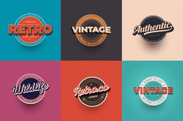 Vintage Text Effects for Illustrator