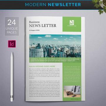 Modern InDesign Newsletter Template