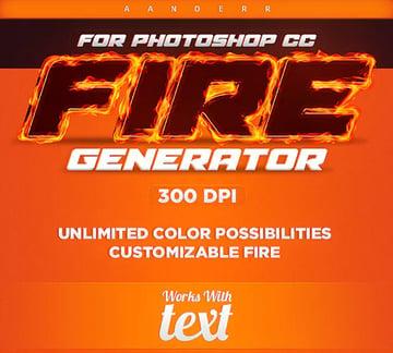 Fire Generator Photoshop Action