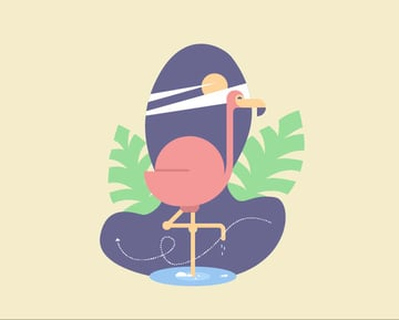 How to Create a Geometric Flamingo Bird in Adobe Illustrator