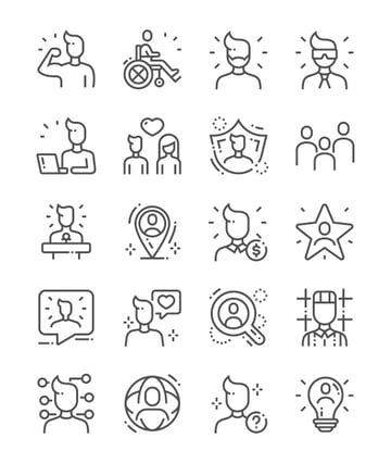 People Line Icons - Instagram Highlight Icons