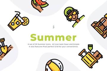 Summertime Icons for Instagram Highlights