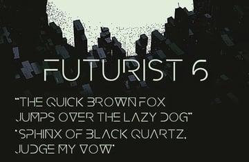 Futurist 6 - Retro Font