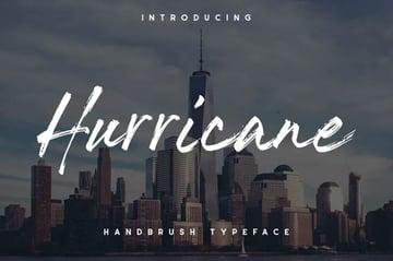 The Hurricane Handbrush 80s Font