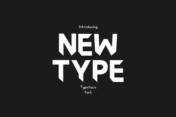 Newtype Typeface Font
