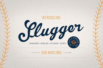Slugger - Baseball Font