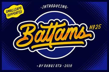 Battams Jersey Font