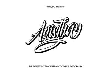 Agistha Baseball Jersey Font Style