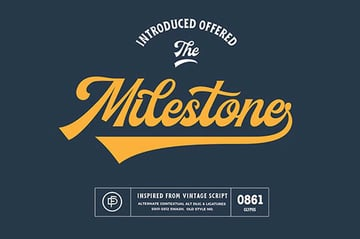 Milestone Jersey Font