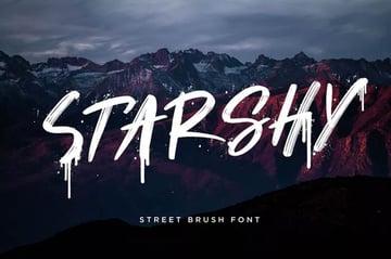 Starshy Street Paint Brush Style Font