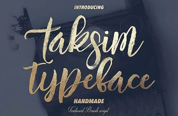 Taksim Brush Calligraphy Font