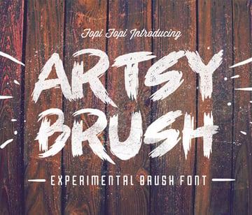 Artsy Trendy Brush Font
