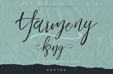 Harmony King - Brush Calligraphy Font