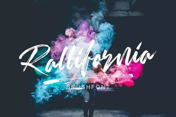 Rallifornia Brush Calligraphy Font