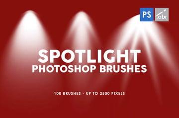 100 Spotlight Photoshop Brushes