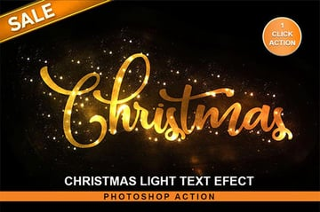 Christmas Text Effect Photoshop Action