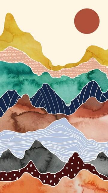 Colorful Mountain Range