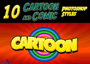 Cartoon and Comic Book Text Styles