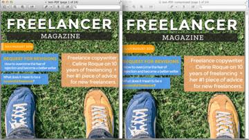 pdf reduced file comparison