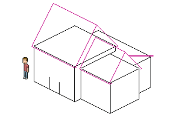 adding lower roof