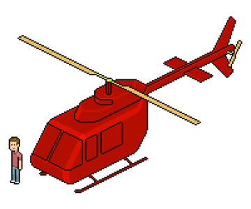 adding highlights the helicopter body
