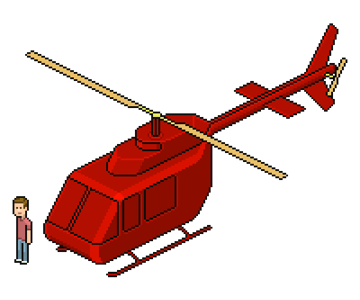 adding darker shade to helicopter body