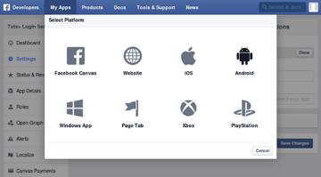 Select Platform dialog