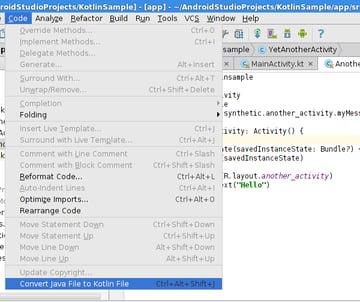 Convert Java file to Kotlin file