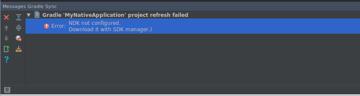 No NDK found error