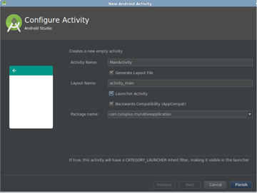 Create a new launcher activity
