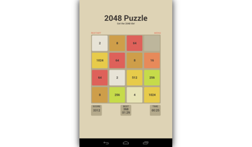 2048 puzzle screenshot