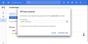 API key generated