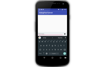 Chat app-like interface
