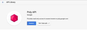 Poly API screen