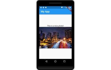 App displaying Material Design widgets