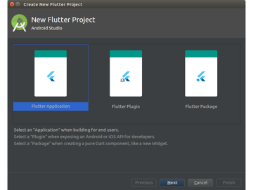 Create Flutter project dialog