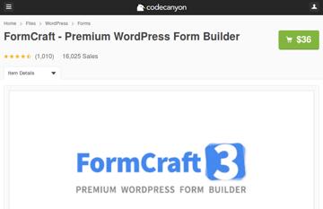FormCraft on CodeCanyon