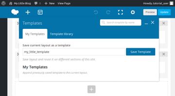 Save template dialog