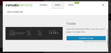 Footer block template