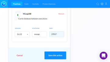 Configuring the MongoDB service