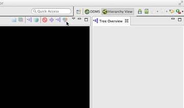 To invoke Hierarchy Viewers profiling feature click the green red and purple Venn diagram icon